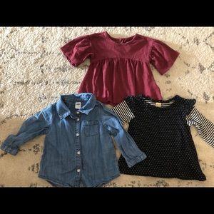 Girls shirt bundle